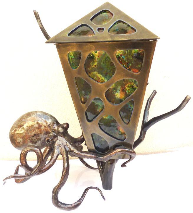 Octopus Lamp - Wayne Jeffery Iron Art