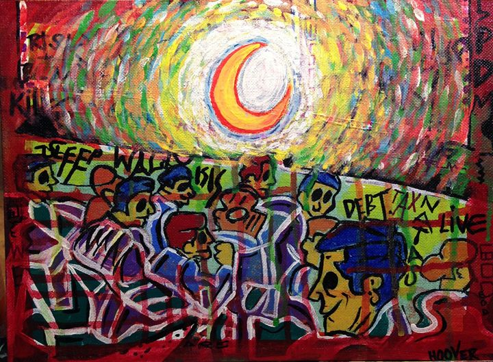 Protest Awaits - Paintings by JHoover