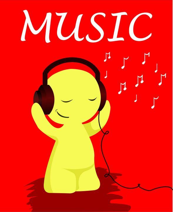 Music listening emoji - Abhitheart