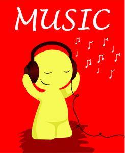Music listening emoji