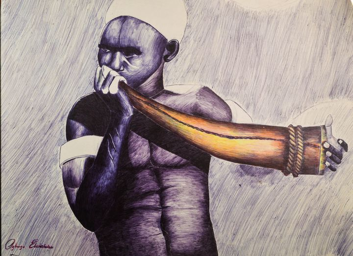 Kiran (the Call) - African Art by Ebube
