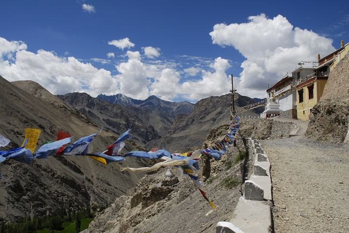 prayer flags outside a monastery - easywind