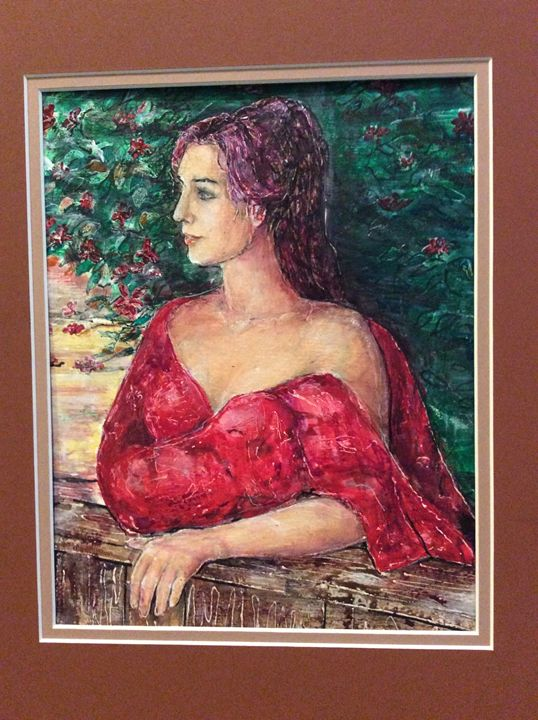 Woman on the balcony - Nelie