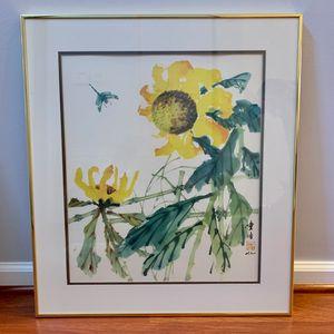 Hui Chi Mau Sunflowers And Dragonfly