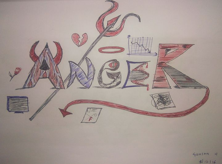Anger - Pen Sketches