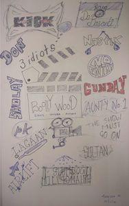 BOLLYWOOD - Pen Sketches