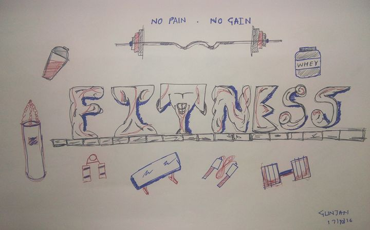 FITNESS FREAK - Pen Sketches