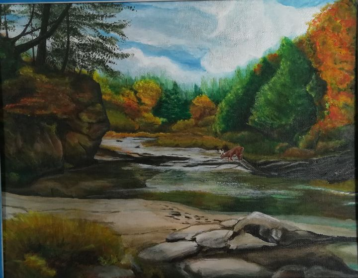 """As the deer pants for water...Psalm - Chris Cross Art Studio"