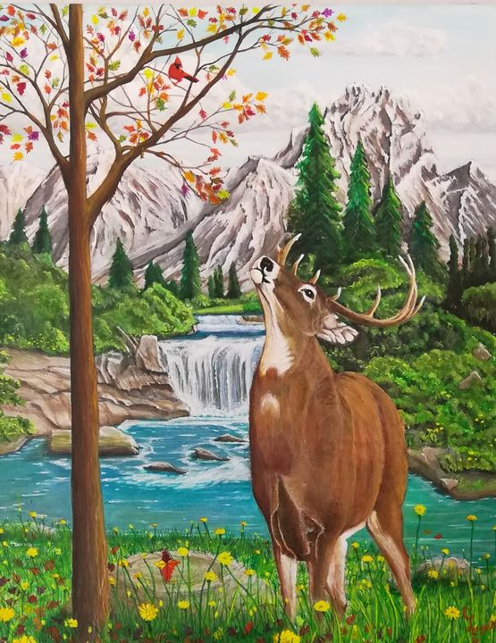 Friends Thru Every Season - Chris Cross Art Studio