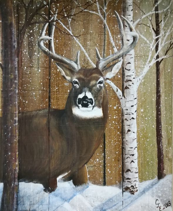 First snow - Chris Cross Art Studio