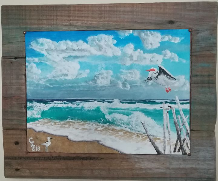 Bird Bath - Chris Cross Art Studio