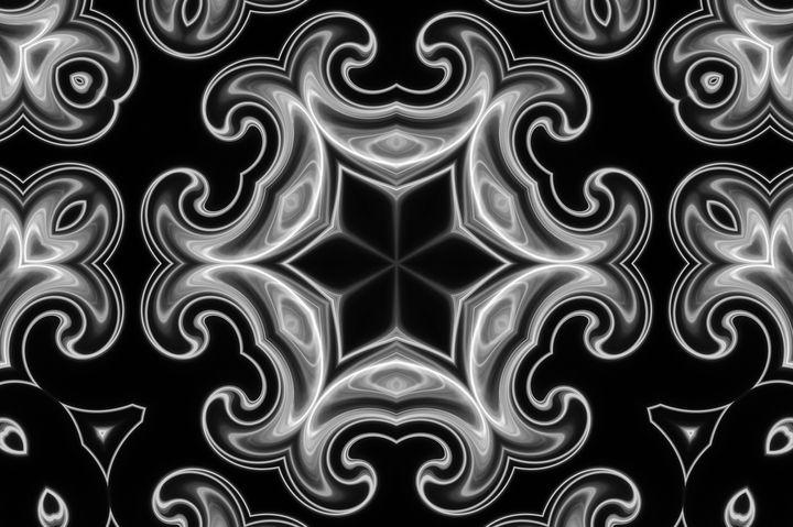 Classic Black and White Fractal - Bentivoglio Photography