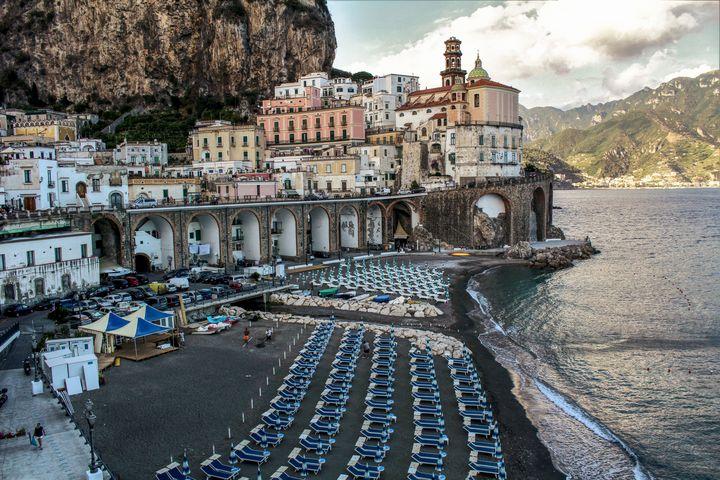 Atrani Village Panoramic View - Bentivoglio Photography