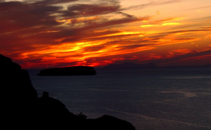 Santorini Sunset - Bentivoglio Photography