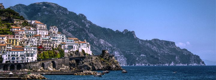 Atrani Village Panoramic View - Bentivoglio Photography