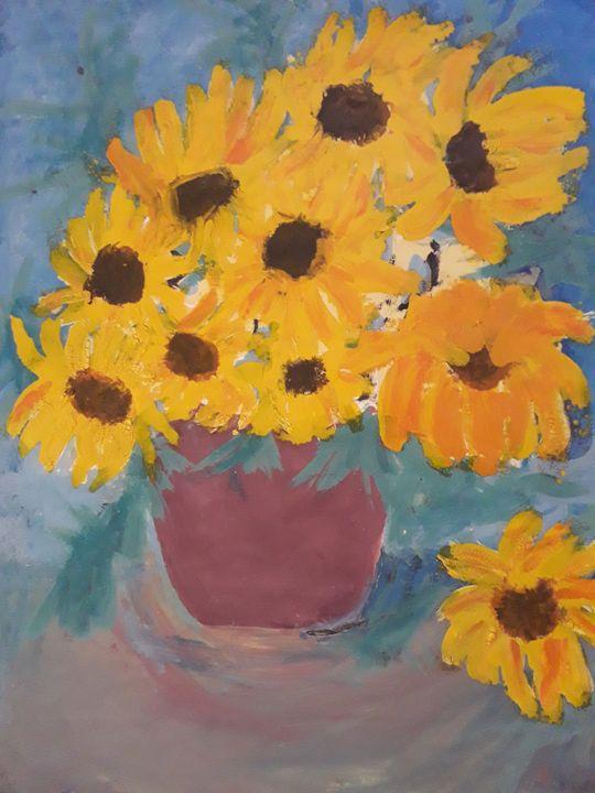 Sunflowers Vase - Yss Harbouli