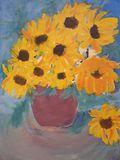 yellow sunflowers in vase