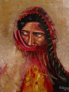 Portrait of a Thar Woman