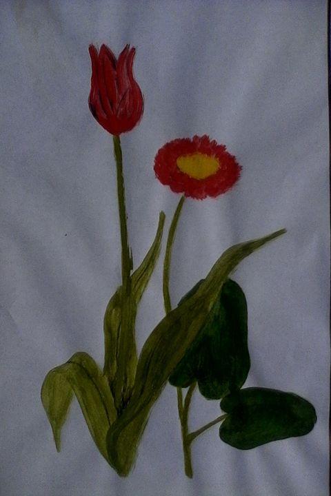 Tulip & lotus flowers - CAM's art