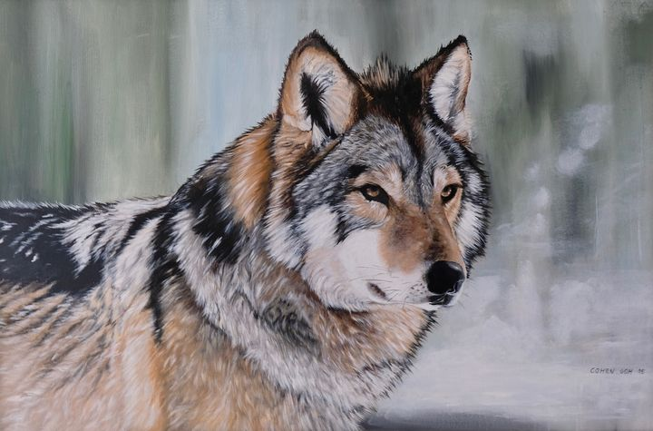 In Remembrance of Dire Wolf - Realistic Animal Art