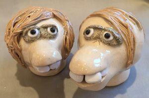 Salt & Pepper Young Couple - Sue Levin Art