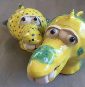 Yellow Fish Shakers - Sue Levin Art