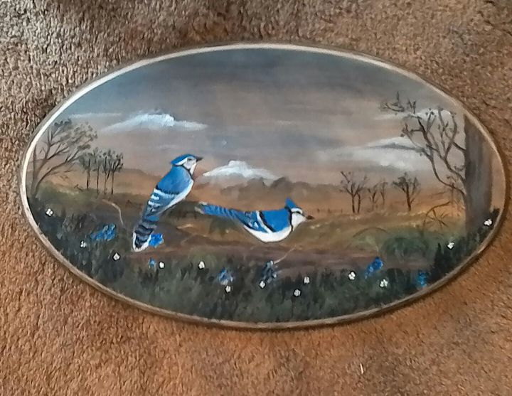 Blue Jays in the Meadow  $45.00 - D Eyre Busch