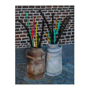 Cans and Straws -Art by Satish Bapat