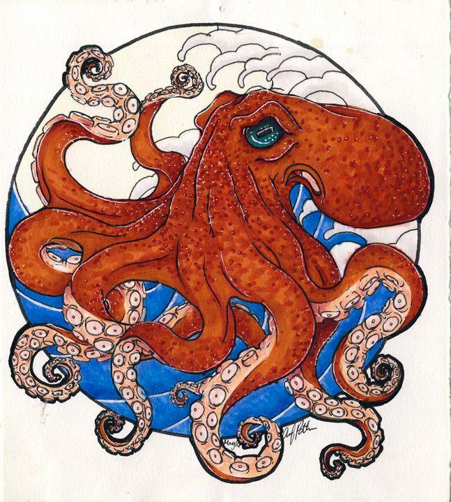 Orange Octopus - Ztackk
