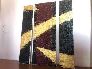 Abstract acrylic set on canvas