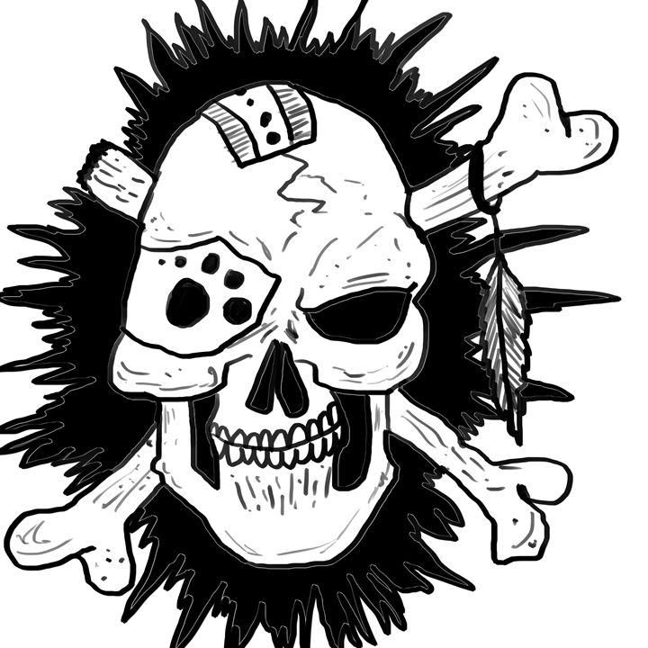 Skull and crossbones - Mahoney_Arts