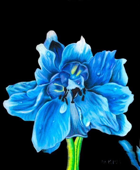 Blue delphinium - Mark's Art