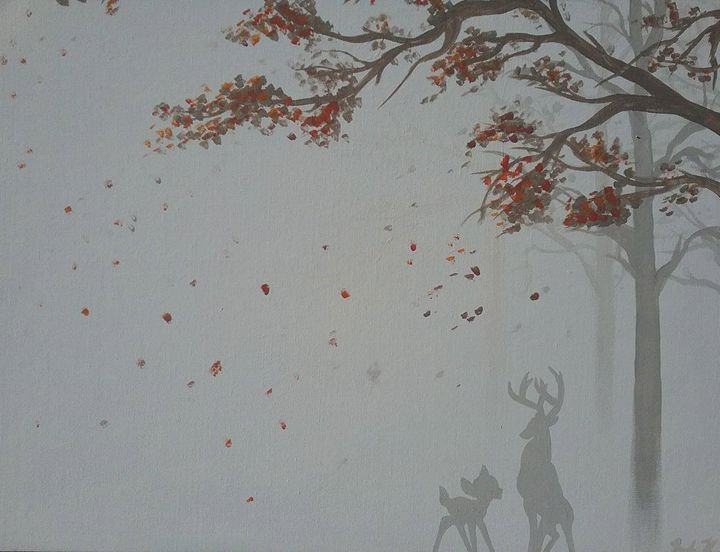 Bambi in Forest - Robert King custom Airbrushing