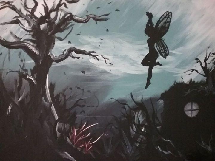 Fairy in the Woods - Robert King custom Airbrushing