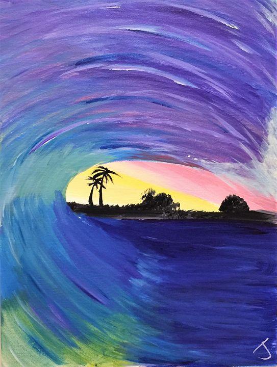 Barreling Sunset - The Broken Hearted Artist
