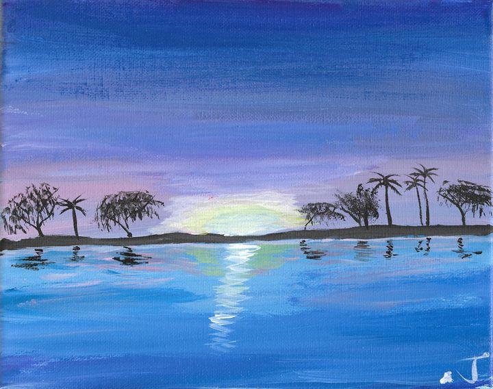 Shoreline trees 1 of 2 - The Broken Hearted Artist