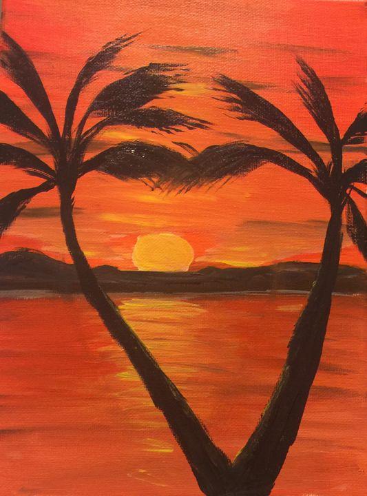Heart at Sunset - The Broken Hearted Artist