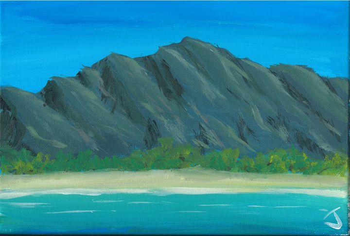 Mountain beach - The Broken Hearted Artist