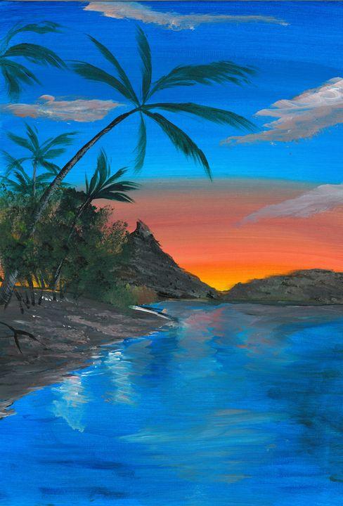 Ocean Sunset - The Broken Hearted Artist