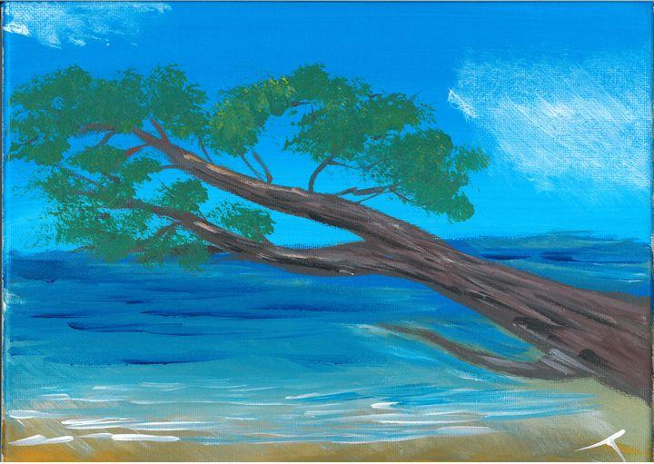 Tree over Water - The Broken Hearted Artist