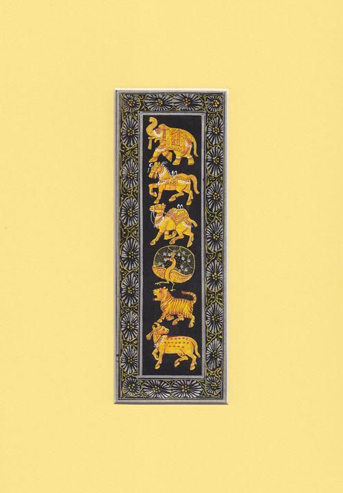 Indian Animals on silk - Indian Inc.