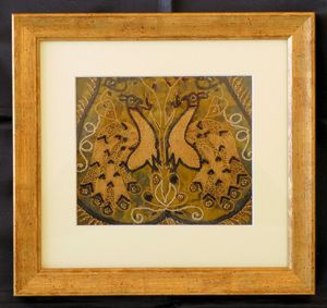 Vintage Indian Framed Material