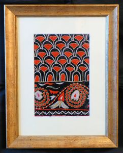 Framed Vintage Indian Material