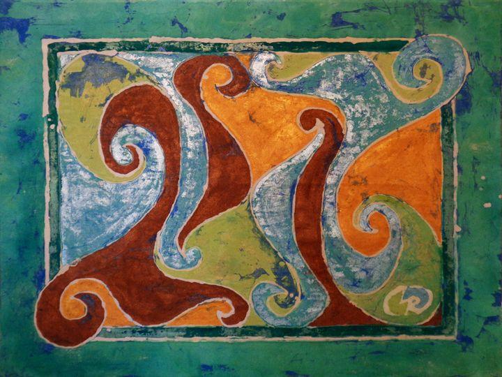 Island Curves Shimmer - Creative Batik