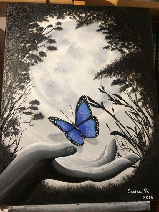 Blue butterfly - Sorina