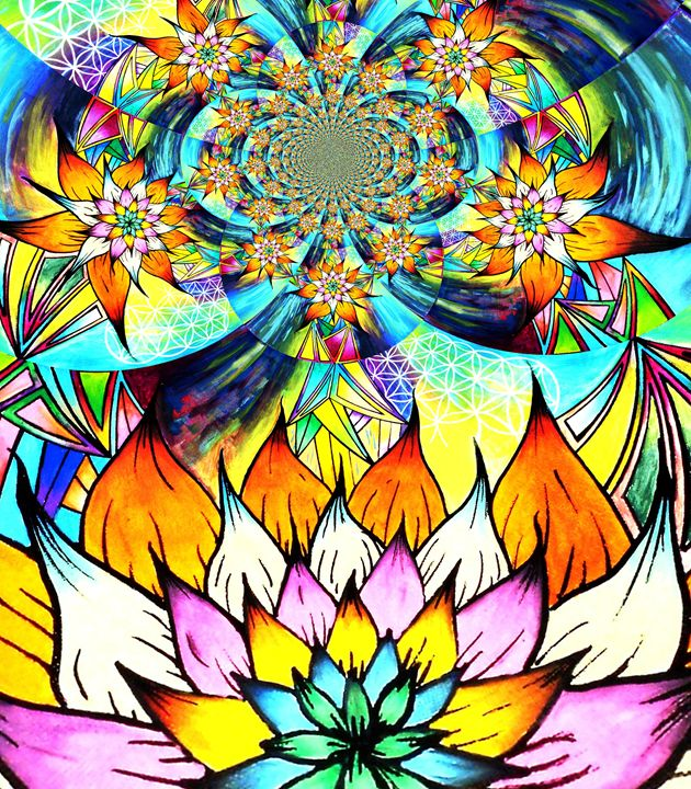 fractal life - Liquid Rainbow X (Denis DeMonte)