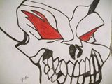 Skull With Red Eyes