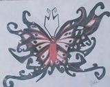 Tribal Butterfly Drawing 8x11