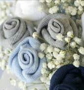 Baby Boy Bouquet of Sock Roses - Jenny Von Doom