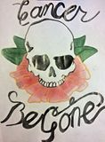 """Skull and Rose """"Cancer Be Gone"""" Draw"""
